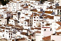 White village of Casares, Sierra Bermeja, Andalusia, Spain, Europe