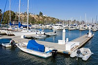 Marina in Dana Point Harbor, Orange County, California, United States of America, North America
