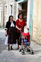 Three generations, Rhodes old Town, Rhodes, Greece