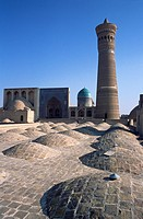 The Kalon mosque and minaret, Bukhara, Uzbekistan, Central Asia