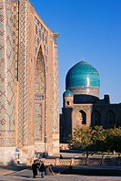 Uzbekistan, Registan Square, the Ulugh Beg Madrasah. The madrasah, which was built between 1417 and 1420, was one of the most reputed clergy universit...