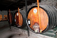 Old barrels, Port wine house, Vila Nova de Gaia, Porto, Portugal