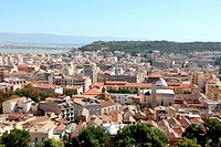 Cagliari from above, Sardinia, Italy, Europe
