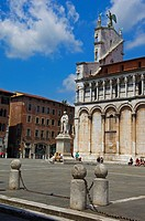 San Michele in Foro church, Piazza San Michele square, Lucca, Tuscany, Italy, Europe