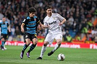 Xavi Alonso, soccer player of Real Madrid  Santiago Bernabeu stadium  Real Madrid match against C D Español  Madrid, 04/03/2012