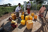 Fetching water in Somali Region, Ethiopia