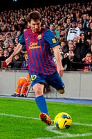 FC Barcelona - Zaragoza, Lionel Messi, Camp Nou, Barcelona, Spain