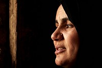 Palestinian refugee, woman, close_up of face, Palestinian refugee camp, Jerash, Jordan, november
