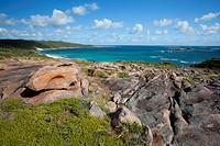 injidup beach near yallingup and dunsborough, western australia australia