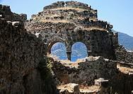 historical ruins, gemiler island, fethiye, mugla province, turkey