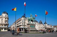 France, Loiret, Orleans, statue of Jeanne d´Arc on Place Martroi Martroi square