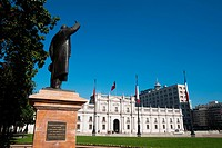 Chile, Santiago de Chile, Palacio de la Moneda, Statue of Jorge Alessandri Rodriguez