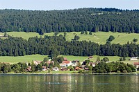 Switzerland, Canton of Vaud, Le Sentier, swim in the Lac de Joux