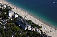 France, Loire Atlantique, Baie du Pouliguen, La Baule, La Baule Beach, Hotel Hermitage Barriere aerial view