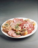Dish of cold cuts
