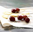 Goat's cheese and grape Crostini