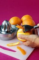 Making orange rinds