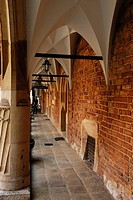 Poland, Lesser Poland region, Krakow, old town Stare Miasto listed as World Heritage by UNESCO, courtyard of the Collegium Maius, Jagiellonian univers...