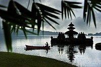 Indonesia, Bali Island, Bedugul village, Ulun Danu temple on Lake Bratan