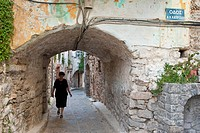 Greece, Chios Island, the Medieval village of Olympi is part of Mastikochoria Mastic producing villages
