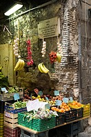 Italy, Campania, Naples, historical centre listed as World Heritage by UNESCO, lttle shop typcal in via San Bennetto Croce street