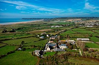 France, Manche, Le Rozel, Sillerie aerial view