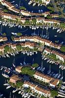 France, Var, Golfe de Saint Tropez, Port Grimaud aerial view