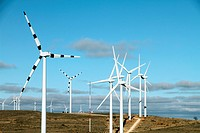 Wind turbines Maestrazgo Teruel Spain