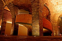 old stables, stairs, Palau Güell, 1890, residential palace, modernism, arq  Antoni Gaudi, Barcelona, Catalonia, Spain