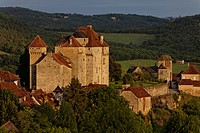 France, Correze, Dordogne Valley, Curemonte, labelled Les Plus Beaux Villages de France The Most Beautiful Villages of France, Plas and Saint Hilaire ...