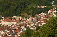 France, Haute Loire, Blesle, labelled Les Plus Beaux Villages de France The Most Beautiful Villages of France, overview of the village