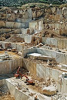 Marble quarry near Orosei, Sardinia, Italy.