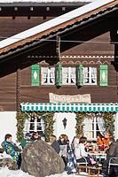 Switzerland, Canton of Vaud, Ormont Dessus, Les Diablerets, auberge de la Poste restaurant