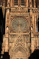 France, Bas Rhin, Strasbourg, old town listed as World Heritage by UNESCO, Notre Dame Cathedral, the western facade