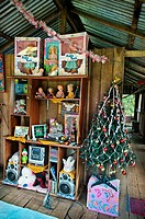 House with a christmas tree, Manaus  Amazonas state, the Amazon, Brazil.