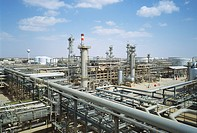 Jubail Oil Refinery on The Red Sea in Saudi Arabia.