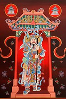 Chinese art of ´Guan Yu´, Chinese warrior that have been respected as god of Honesty.