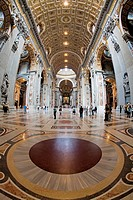 Tourists visiting the Vatican Museums. Vatican City, Italy.