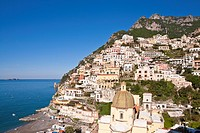 Italy, Campania, Amalfi Coast, listed as World Heritage by UNESCO, Positano, Santa Maria Assunta church, dating from the 13th century