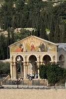 Basilica of Agony, Agoniae Domini Basilica, Church of All Nations, at the foot of the Mount of Olives, Jerusalem, Israel, Middle East, Asia