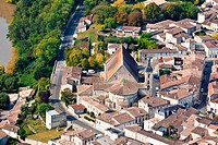 France, Gironde, Guitres aerial view