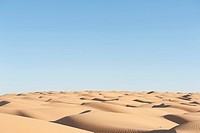 Solitude, blue sky, sand dunes, Sahara desert between Douz and Ksar Ghilane, Southern Tunisia, Tunisia, Maghreb, North Africa, Africa