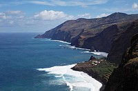 North coast with Fajana, view from El Tablado, La Palma, Canary Islands, Spain, Europe