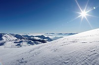 View from Lawinenstein Mountain, Die Tauplitz ski resort, Bad Mitterndorf, Ausseerland, Salzkammergut, Styria, Austria, Europe