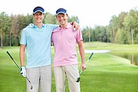 Two men golfers on the golf course