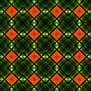 Abstract geometric pattern in green, red and yellow. Can be used as wallpaper.
