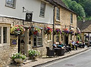 Castle Inn Hotel in the picturesque village of Castle Combe, Wiltshire, England, UK