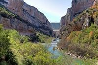 Lumbier foz. Irati river. Leire range Navarre Spain
