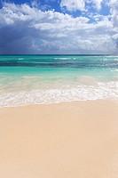 sand of beach on caribbean sea in Mexico