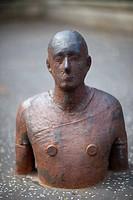 Anthony Gormley sculpture, Edinburgh, Scotland